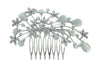 Silver Cats Eye Bridal Hair Comb