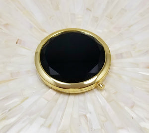 Black jewel top bridesmaid mirror