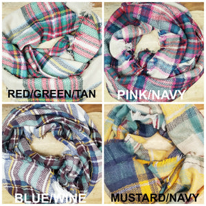 Plaid Blanket Scarf Options