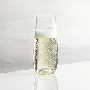 Single Initial Stemless Champagne Flutes