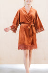 Bridesmaid Robe in Burnt Orange