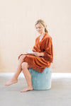 Burnt Orange Wedding Day Robe