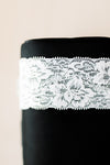 Soft White Floral Stretch Lace For Your Rhinestone Garter