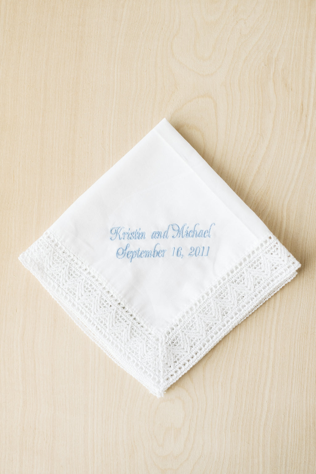 Embroidered Chapel Lace Bridal Handkerchief