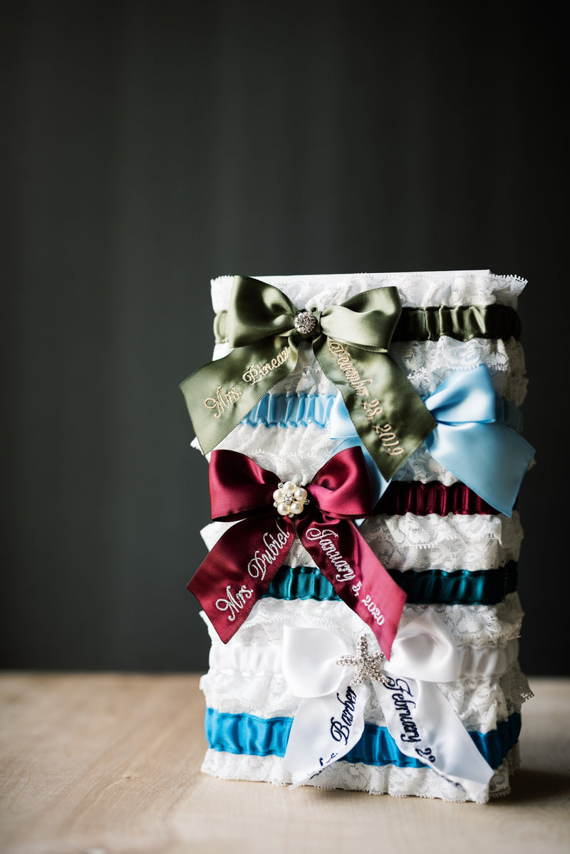 Design Your Own Embroidered Ribbon Bridal Garter