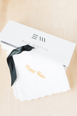 Custom Handkerchief Comes Gift Wrapped