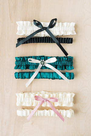 Design Your Own Classic Bridal Garter Set