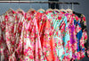 Cotton Floral Bridesmaid Robes in Eight Colors