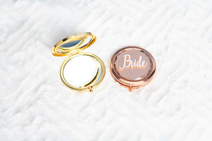 Gold and rose gold compact mirrors