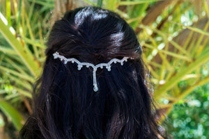 Silver Wave Hair Chain