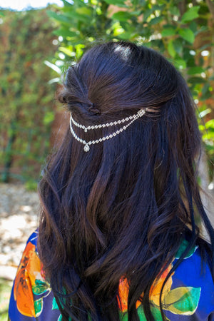Silver Double Layer Hair Chain