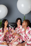 Ivory Floral Robes for your Bridesmaids