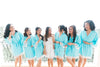 Aqua Cotton and Lace Bridesmaid Robes