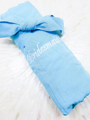 Aqua Blue Bridesmaid Robe