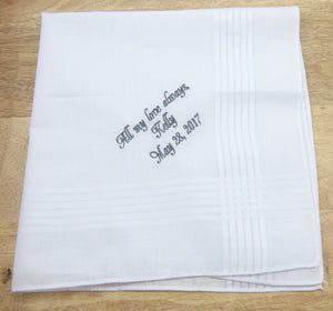 Handkerchiefs - Personalized Groom Handkerchief - Ella Winston