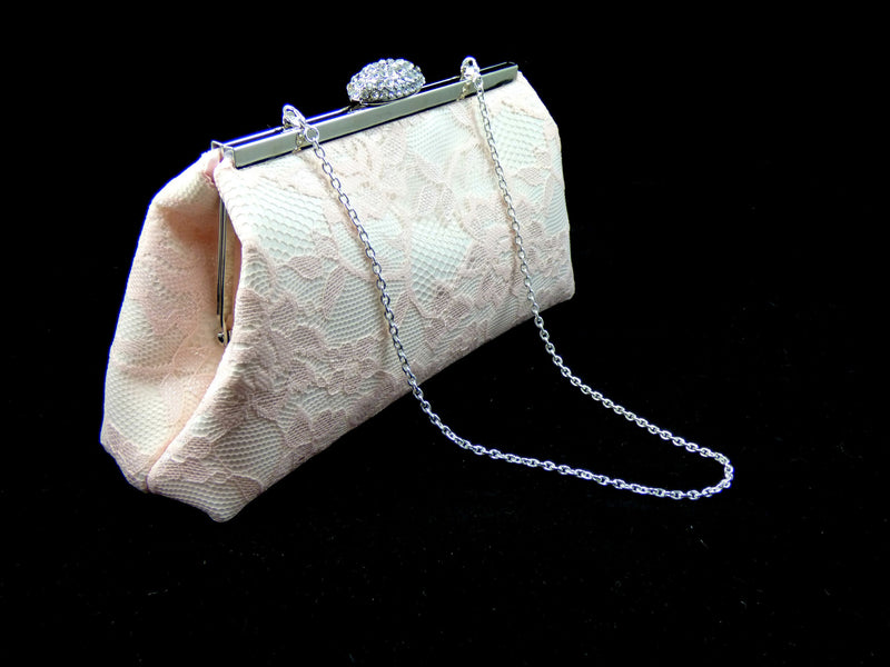 Clutches - Ivory and Petal Pink Bridal Clutch - Ella Winston