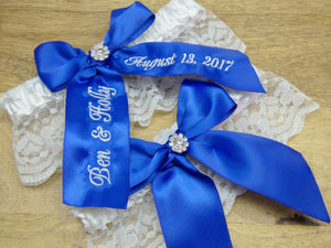 Something Blue Bridal Garter Set