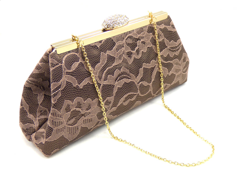 Clutches - Chocolate and Latte Bridal Clutch - Ella Winston