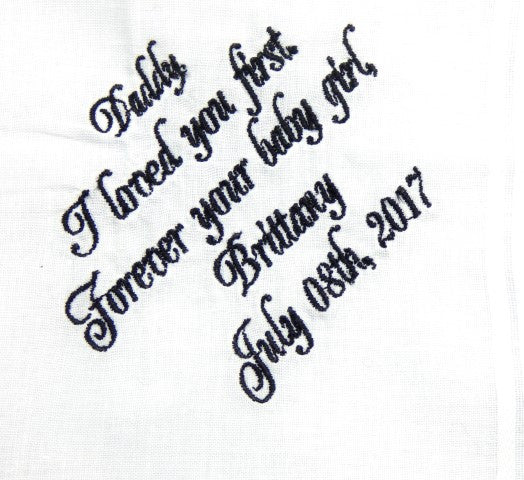 Handkerchiefs - Father of the Bride Personalized Handkerchief - Ella Winston