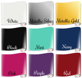 Vinyl Colors for Personalized Mrs. Wine Glass