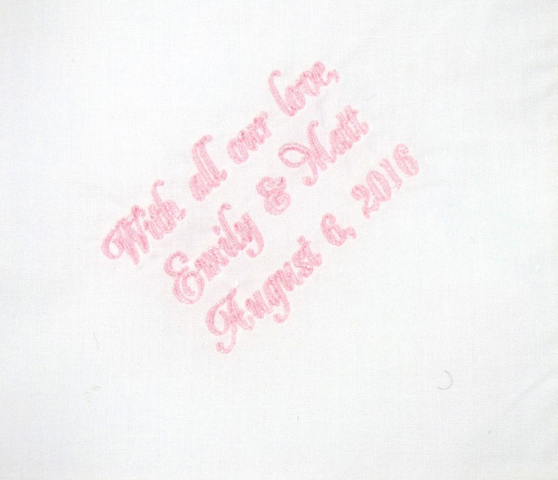 Handkerchiefs - Personalized Wedding Handkerchief for the Mother of the Bride or Mother of the Groom - Ella Winston