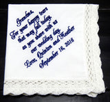 Handkerchiefs - Grandmother's Personalized Handkerchief - Ella Winston