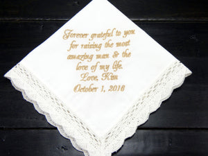Handkerchiefs - Mother of the Groom Handkerchief - Ella Winston