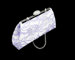 Clutches - Ivory and Lavender Bridal Clutch - Ella Winston