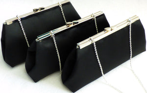 Clutches - Set of Three Black and Silver Paisley Bridesmaid Gift Clutches 5% Off - Ella Winston