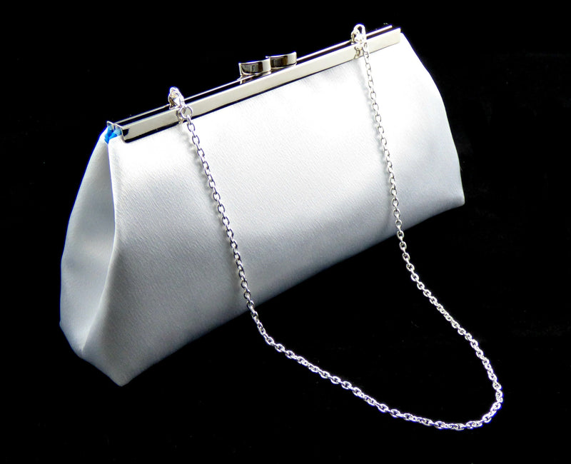 Clutches - White and Blue Jewel Wedding Clutch - Ella Winston