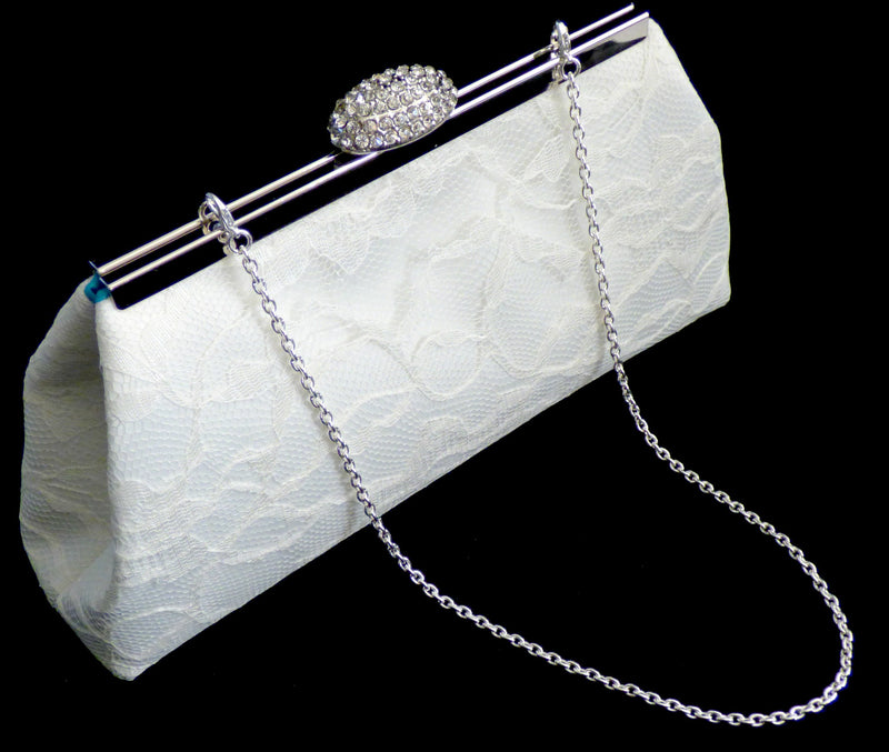 Clutches - Ivory and Teal Bridal Clutch - Ella Winston