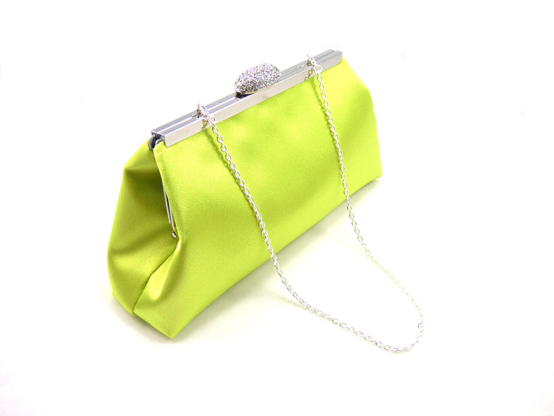 Clutches - Lime Green and Steel Grey Wedding Clutch - Ella Winston