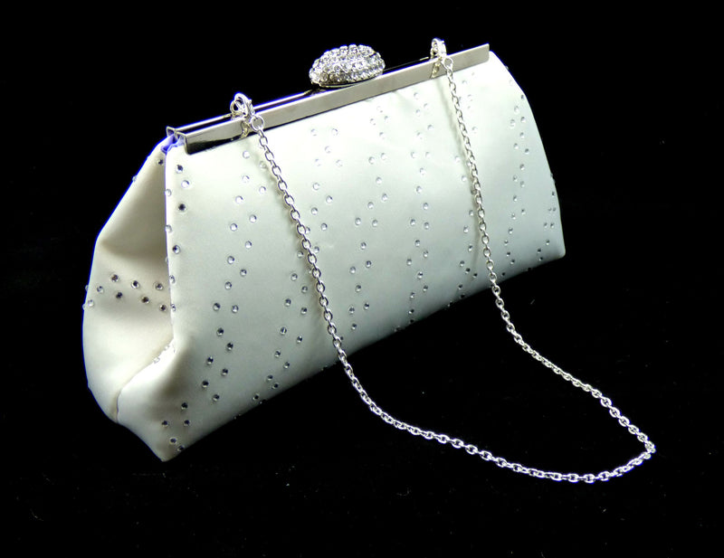 Bling Clutches - Ivory and Lavender Rhinestone Clutch - Ella Winston