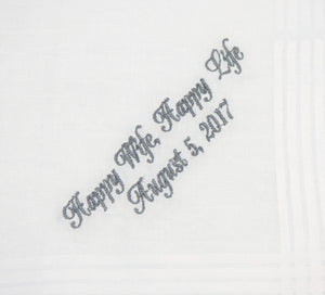 Embroidered Groom Handkerchief