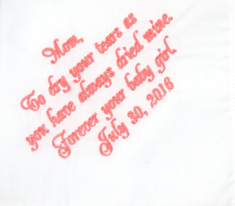 Handkerchiefs - Mother of the Bride Personalized Handkerchief - Ella Winston