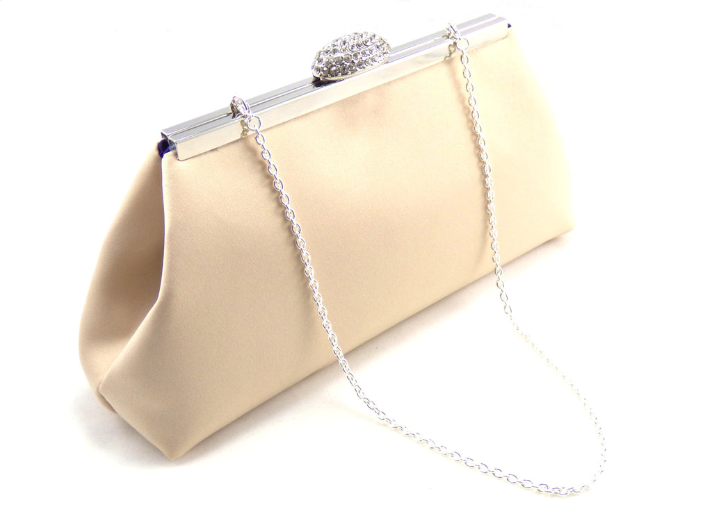 Clutches - Champagne and Blackberry Purple Wedding Clutch - Ella Winston