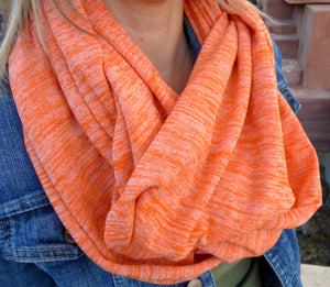 Scarves - Orange Infinity Scarf - Ella Winston