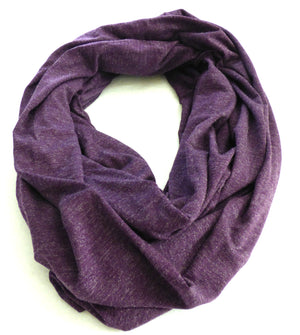 Scarves - Blackberry Purple Infinity Scarf - Ella Winston