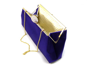 Clutches - Set of Five Regal Purple and Gold Flake Bridesmaid Gift Clutches 5% Off - Ella Winston