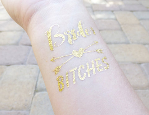 Bride Heart and Arrow Bachelorette Party Tattoo