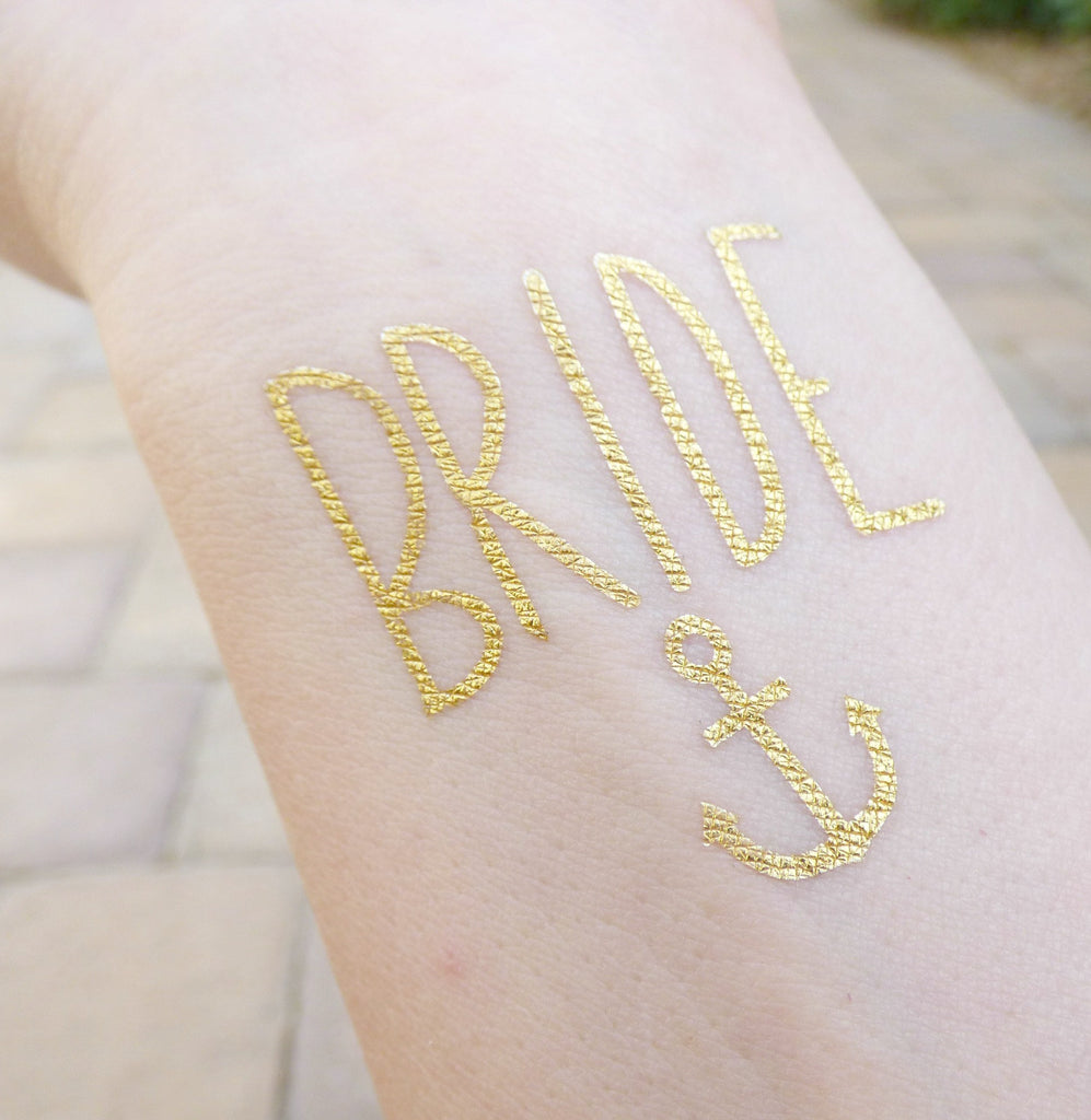 Bride Anchor temporary tattoo for bachelorette party