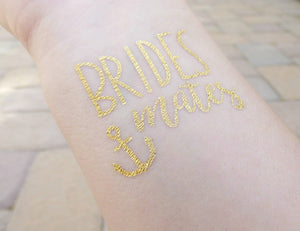 Brides Mates Anchor temporary tattoo on wrist for bachelorette party