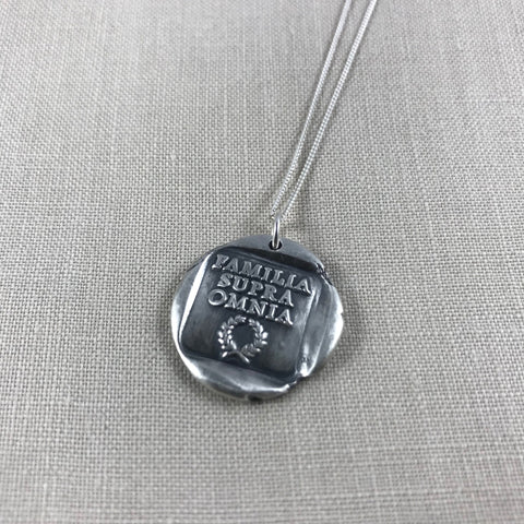 Wax seal talisman necklace - Family above all else