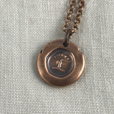 Wax seal talisman necklace - Squirrel