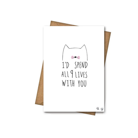 9 lives - Greeting Card