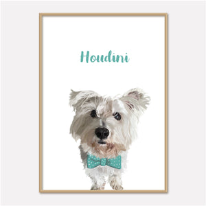 Pet Portrait - With Bowtie