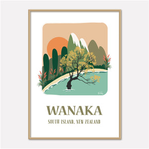 Lake Wanaka, New Zealand Illustration by Studio Peers