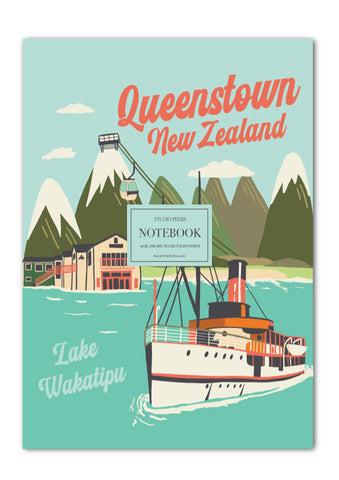 Retro Queenstown Notebook
