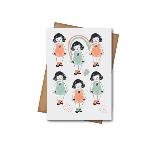 Little Dolls - Greeting Card