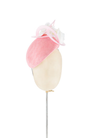 Pale Pink Moon - fascinator designed by Edel Ramberg - Rent The Races  - 1